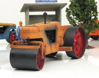 Каток дорожный Д-211 (оранжевый загрязненный)