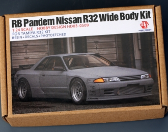 Конверсионный набор RB Pandem Nissan R32 Wide Body Kit для моделей Tamiya R32 KIT (Resin+PE+Metal parts+Decals)