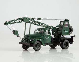 ЛАЗ-690 (150) автокран, темно-зеленый