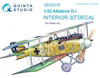 3D Декаль интерьера кабины Albatros D.I (для модели Roden)