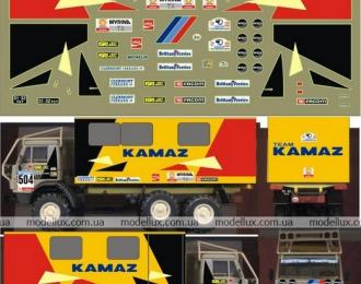 Набор декалей Камский грузовик 4310 Ралли N504 (техничка), 190х100