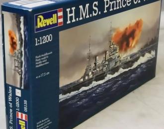 Сборная модель Британский линкор HMS Prince of Wales
