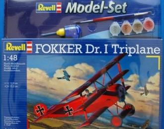 Сборная модель Самолет триплан Fokker Dr.I (Подарочный набор)