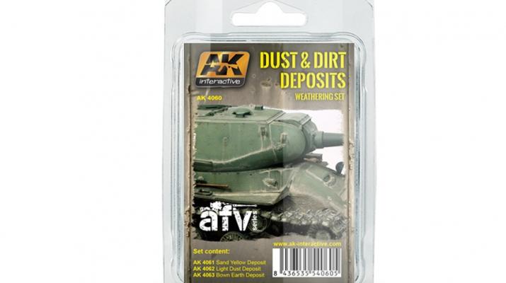 """Набор жидкостей для нанесения эффектов """"Dust and Dirt Deposits""""(скопления грязи и пыли)"""