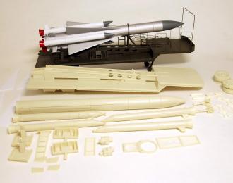Сборная модель Прицеп ТЗМ РЗО С-200 Ангара с ракетой