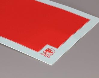 Декаль Цветовое поле (красный), 80х170 мм.