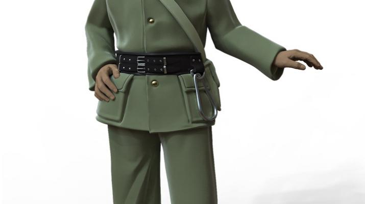 Фигура Пожарный №1, окрашенная