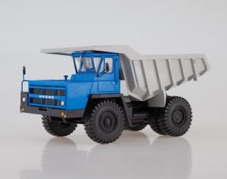БЕЛАЗ-7522 ранний Карьерный самосвал, синий / серый