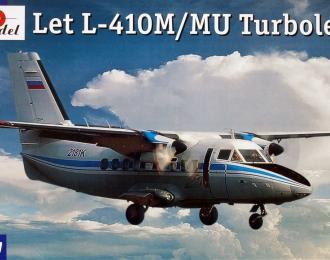 Сборная модель Чехословацкий многоцелевой cамолёт Let L-410M / MU Turbolet (Аэрофлот)