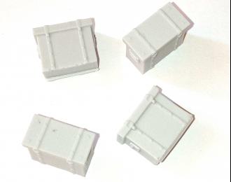 (Уценка!) Ящики металлические (700 x 390 x 520 мм), 4 шт.