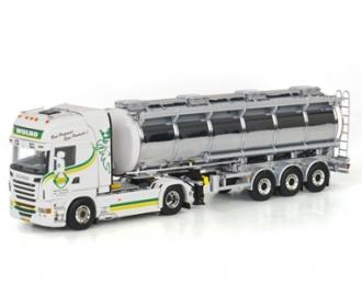 SCANIA R Topline Tanker Liquid (3 axle) Wulro, Premium Line 1:50, белый