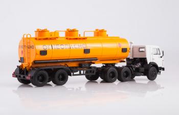 КАМАЗ-54112 с полуприцепом НЕФАЗ-96742, серый / оранжевый