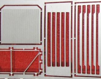Фототравление Облицовка радиатора КрАЗ-260, матовый никель