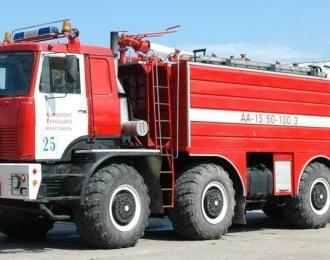 Сборная модель Пожарный автомобиль МАЗ-740912 аэродромный (Туношна)
