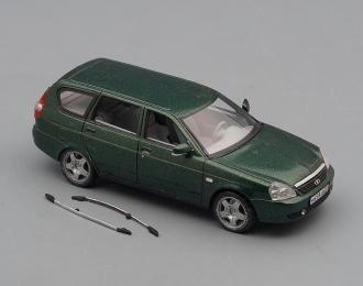 (Уценка!) ВАЗ 2171 Lada Priora универсал (2009), зеленый металлик