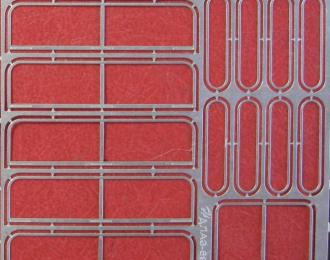 Фототравление Рамки форточек ЛАЗ-695 (Modimio)