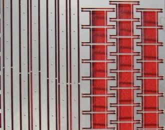 Лестница трехколенная 65х170, матовый никель