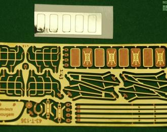 Фототравление Зеркала и решетки для ZIL-131, жесткая латунь