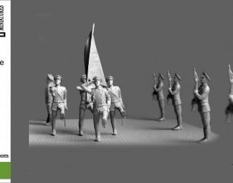 Сборная модель Парад. Знаменная группа