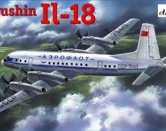 Сборная модель Советский пассажирский самолет Ил-18