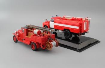 Набор пожарных машин: ЗИС-5В ПМЗ-7 и АЦ-30(53-12)-106Г (без надписей)