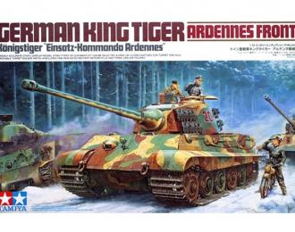 """Сборная модель Танк King Tiger """"Ardennes Front"""", мотоцикл DKW NZ350 и 3 фигуры"""