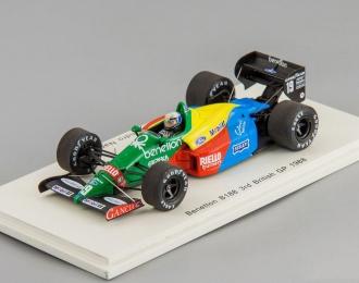 Benetton B188 #19 3rd British GP 1988 Alessandro Nannini