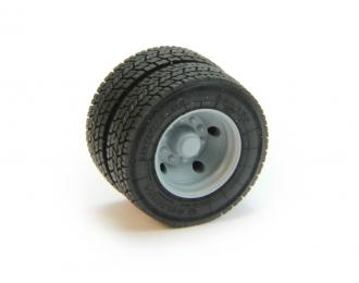 Резина БЕЛ-159 с диском для низкорамных прицепов, цена за шт.