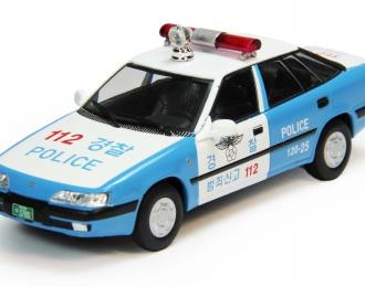 DAEWOO Espero S Полиция Южной Кореи, Полицейские Машины Мира 71, бело-голубой