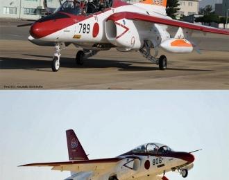Сборная модель Kawasaki T-4 JASDF 60th Anniversary (2 модели) Limited Edition