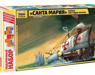 """Сборная модель Корабль """"Санта Мария"""" (подарочный набор)"""