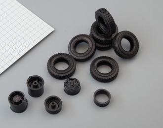 Резина, диски для СуперМаз 4х2 (ИД-304 шашка)