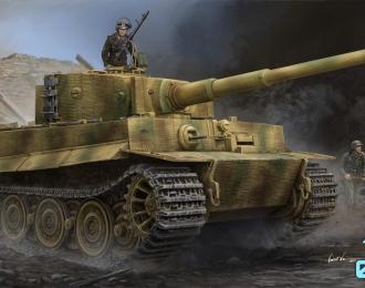 Сборная модель Немецкий тяжелый танк Tiger 1 - поздняя версия (с цемеритом)