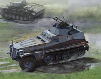 Сборная модель Немецкий БТР Sd.Kfz 250/4 со спаренными пулеметами Mg 34