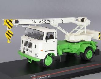 IFA W50L автокран ADK70 (1968), white / green