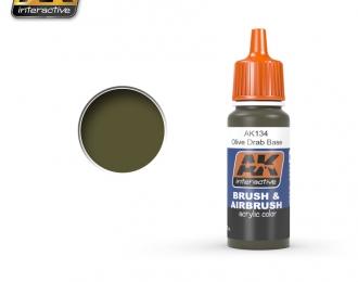 Краска акриловая OLIVE DRAB  BASE (оливковый США, основа)