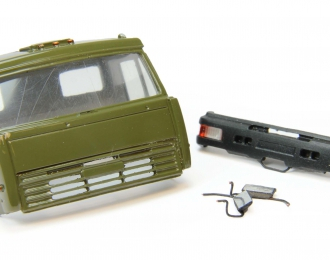 Дневная кабина для КАМАЗ (Евро-2, пластиковый бампер), хаки
