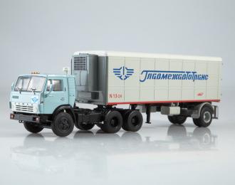 Камский грузовик 54112 с полуприцепом Alka-N13CH Главмежавтотранс, голубой / серый