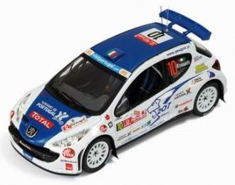 PEUGEOT  207 S2000 10 Winner Rally Portugal (L.Rossetti - M.Chiarcossi) 2008, белый с синим