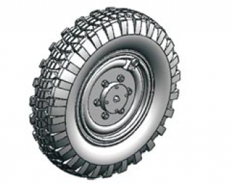 Сборная модель Sdkfz.221 road wheel set (Early version)