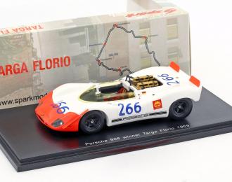 PORSCHE 908/02 Spyder #266 Winner Targa Florio G. Mitter - U. Schütz (1969), white