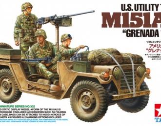 """Американский автомобиль US Utility Truck M151A2 - """"Grenada 1983"""", с тремя фигурами"""