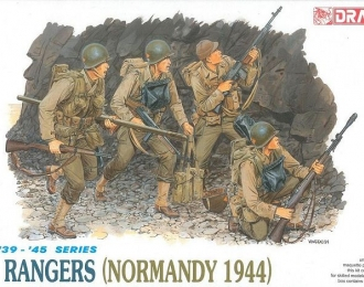 Сборная модель Набор фигур U.S. Rangers Normandy 1944