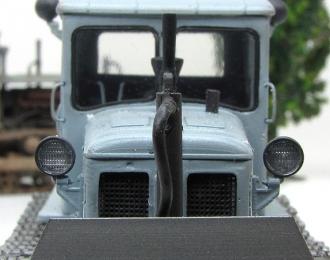Т-74 бульдозер серый ранний (чистая, колпак, фигурка, основание)