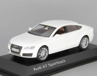 AUDI A7 Sportback (2013), white metallic
