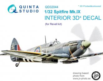 3D Декаль интерьера кабины Spitfire Mk. IX (для модели Revell)