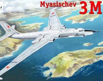 Сборная модель Советский бомбардировщик Мясищев 3MD