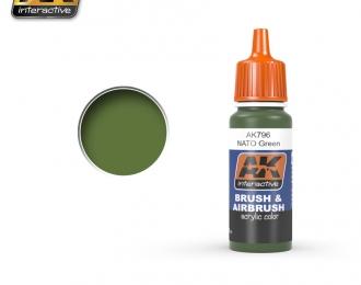 Краска акриловая Nato Green