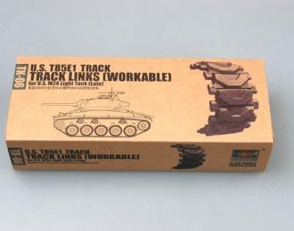 Сборная модель Наборные гусеницы T85E1 для американского легкого танка M24 позднего выпуска (рабочие)