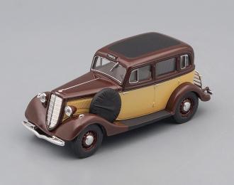 Горький М1 такси, коричневый с бежевым